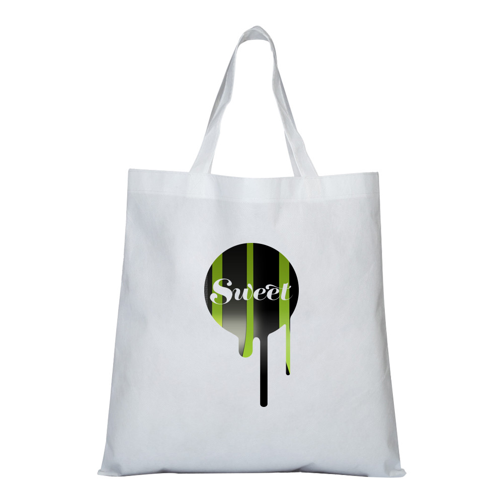 Reusable shopping tote bags with zipper