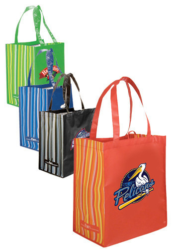 Guangyue Promotional Items Non Woven Heat Seal Integrated Grocery Tote Bags With Custom Logo