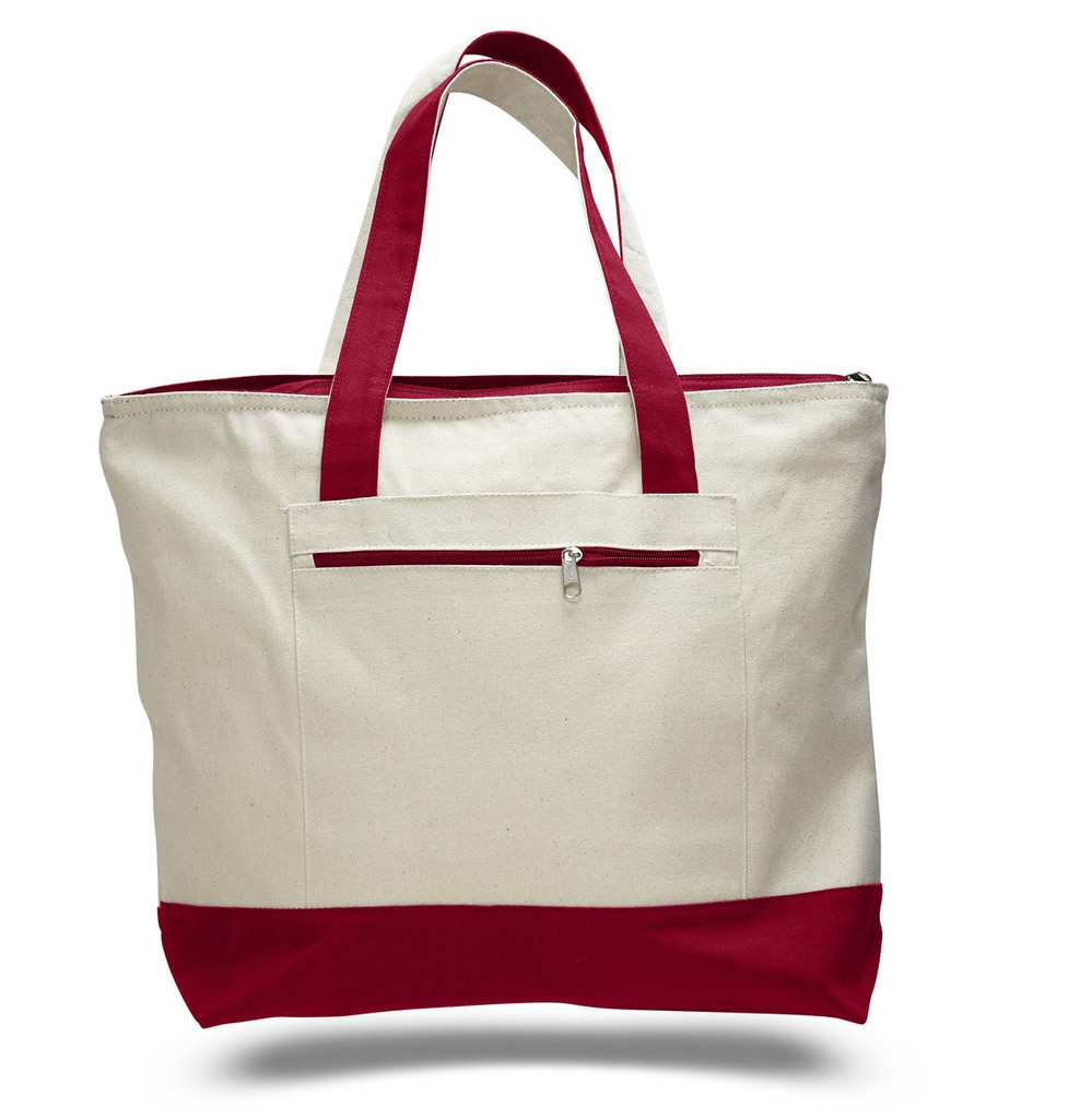 Blank handle style eco-friendly canvas shopping bags