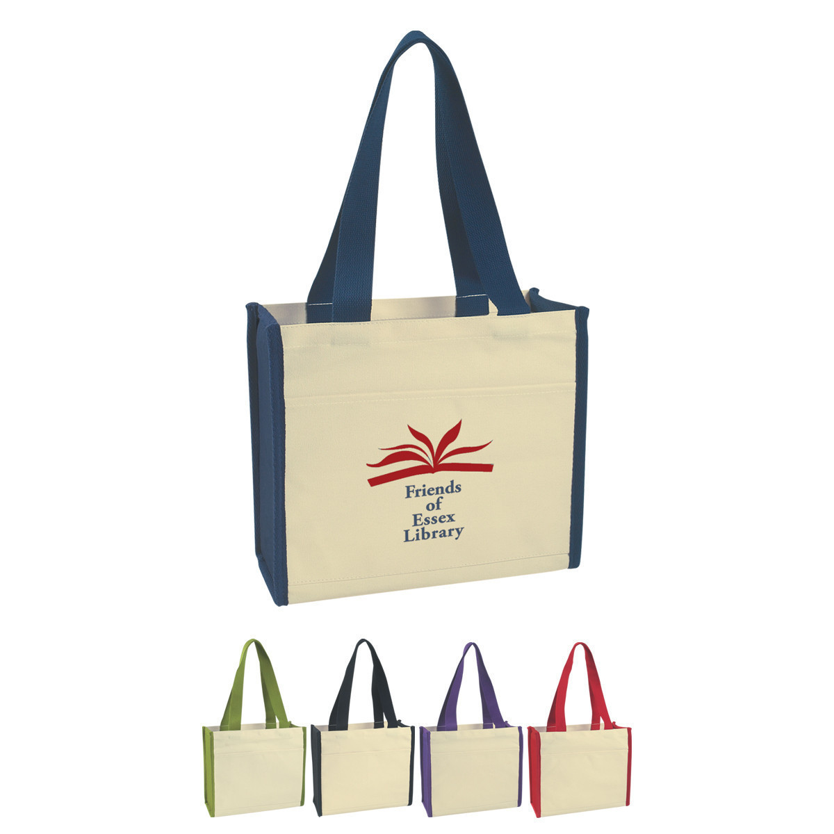 China Manufacturer Wholesale Reusable Canvas White Eco-Friendly Leather Tote Bag